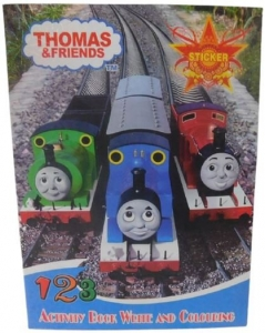 COLOURING BOOK WITH STICKER THOMAS
