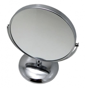 METAL PEDESTAL MIRROR 1X7 DOUBLE SIDED