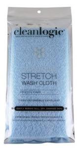 CLEANLOGIC EXFOLIATING  STRETCH BATH WASH CLOTH