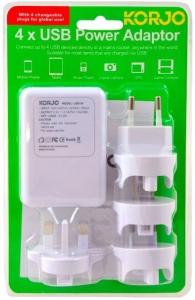 KORJO 4 PORT USB ADAPTOR WITH INT PLUGS