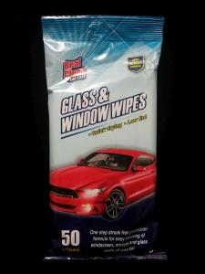 REAL CLEAN CAR WIPES 50 GLASS N MIRROR###