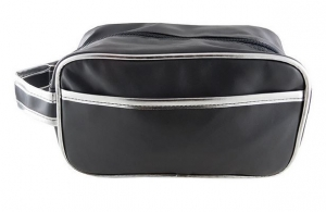 WET PACK BLACK WITH SILVER TRIM 22CM