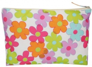 COSMETIC CLUTCH COLOURED FLOWER 27X20CM+++