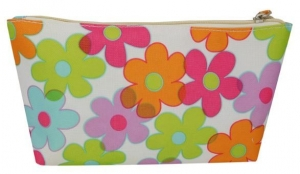 COSMETIC PURSE COLOURED FLOWERS 24X12+++